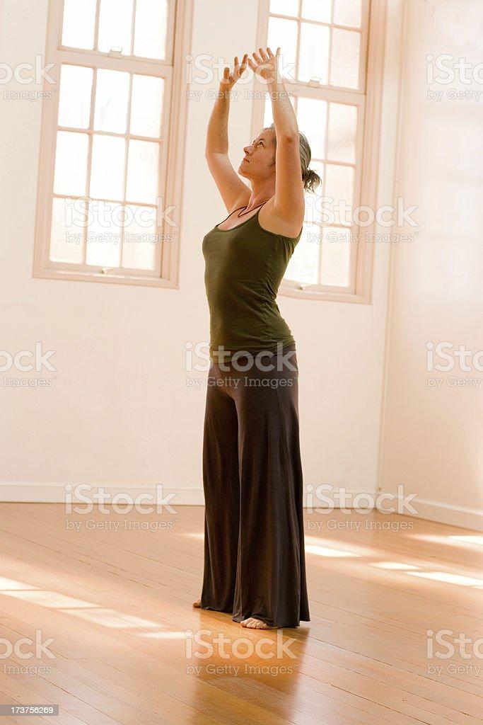Morning Stretch stock photo