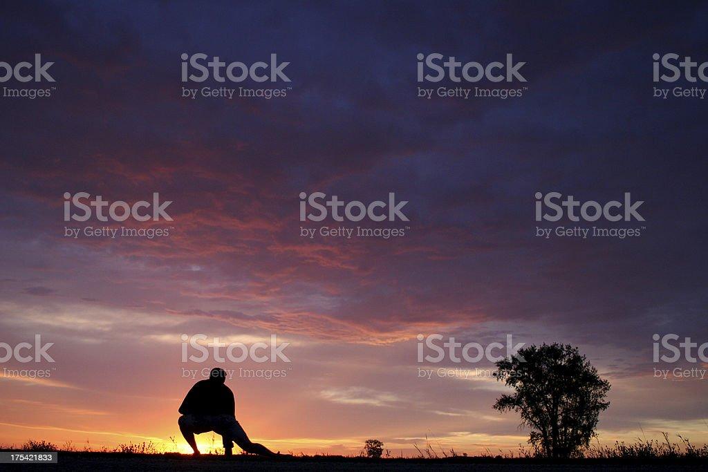 Morning Stretch royalty-free stock photo