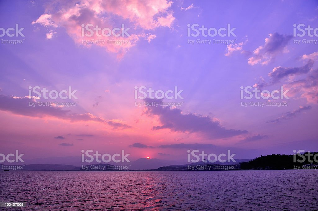 Morning Sun in Dali,China royalty-free stock photo