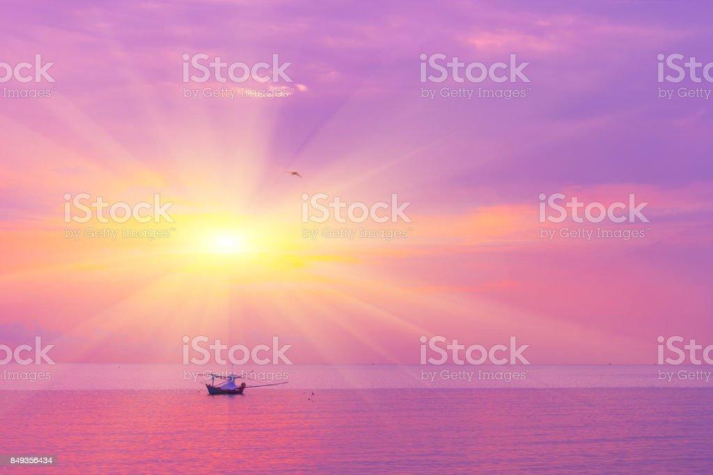 Morning sun light orange hot zone.th stock photo