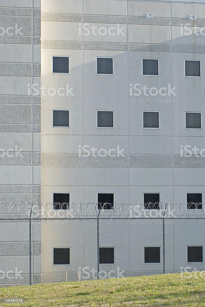 Morning Sun on Prison Walls royalty-free stock photo
