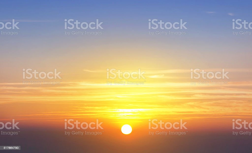 Morning sunrise with warm colors stock photo