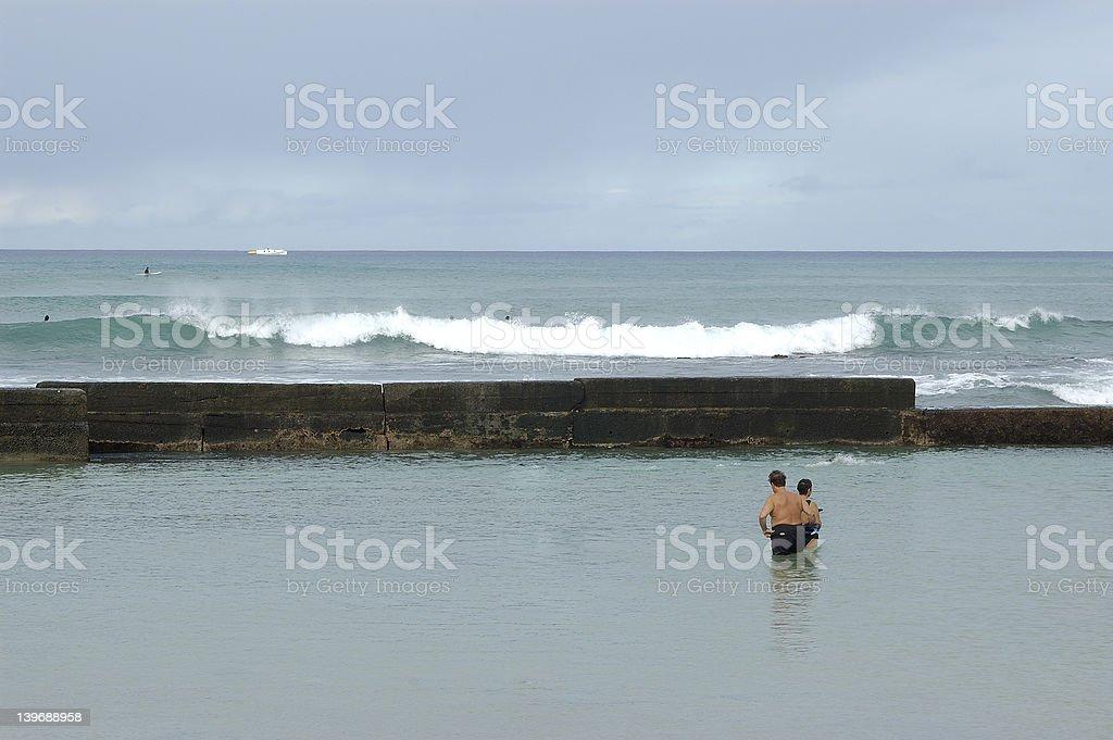 morning swim royalty-free stock photo