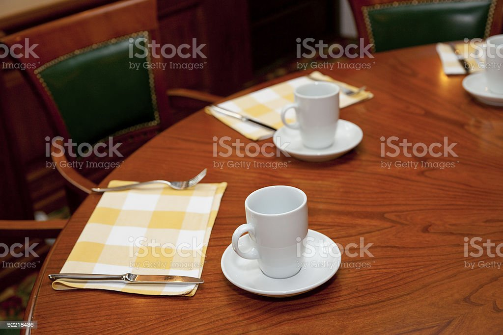 Morning table arrangement royalty-free stock photo