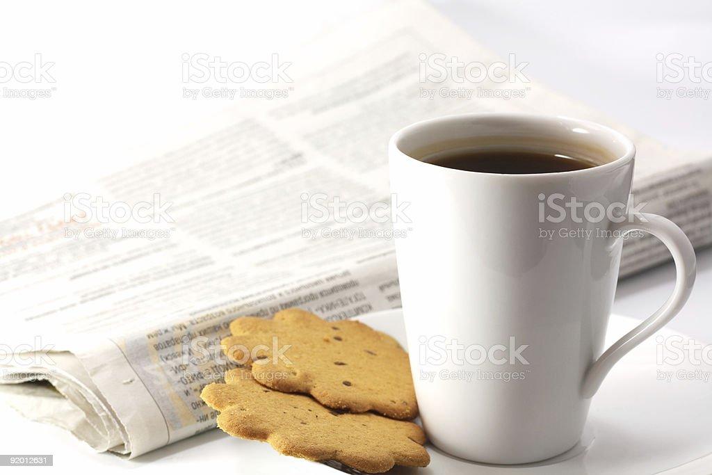 morning tea drinking royalty-free stock photo