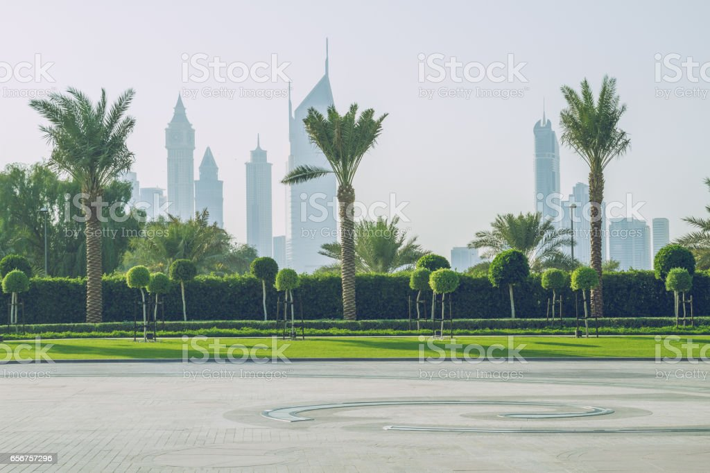 Morning time in luxury city. stock photo