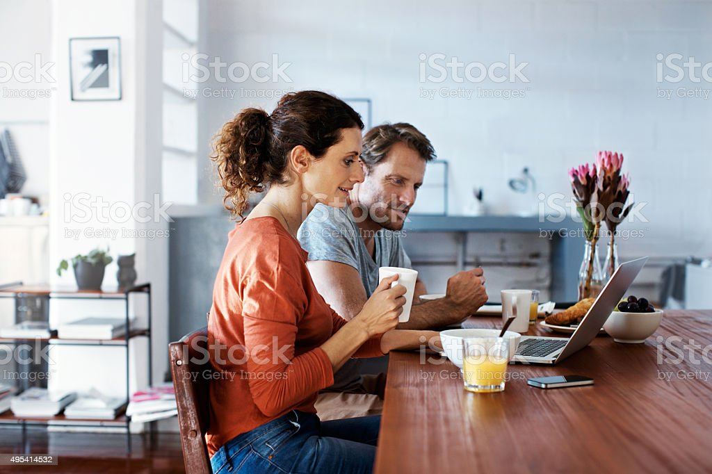 Morning time online stock photo