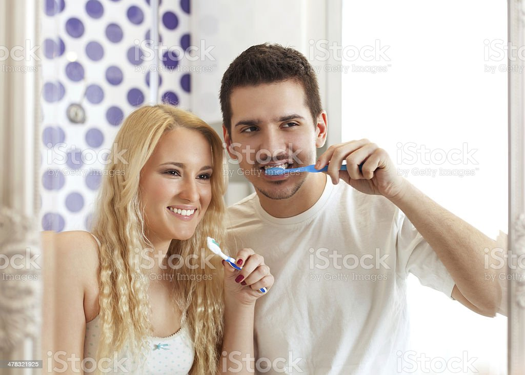 Morning together. royalty-free stock photo