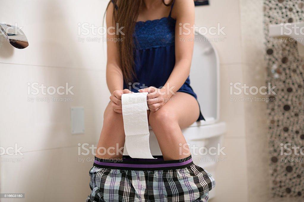 Morning toilet stock photo