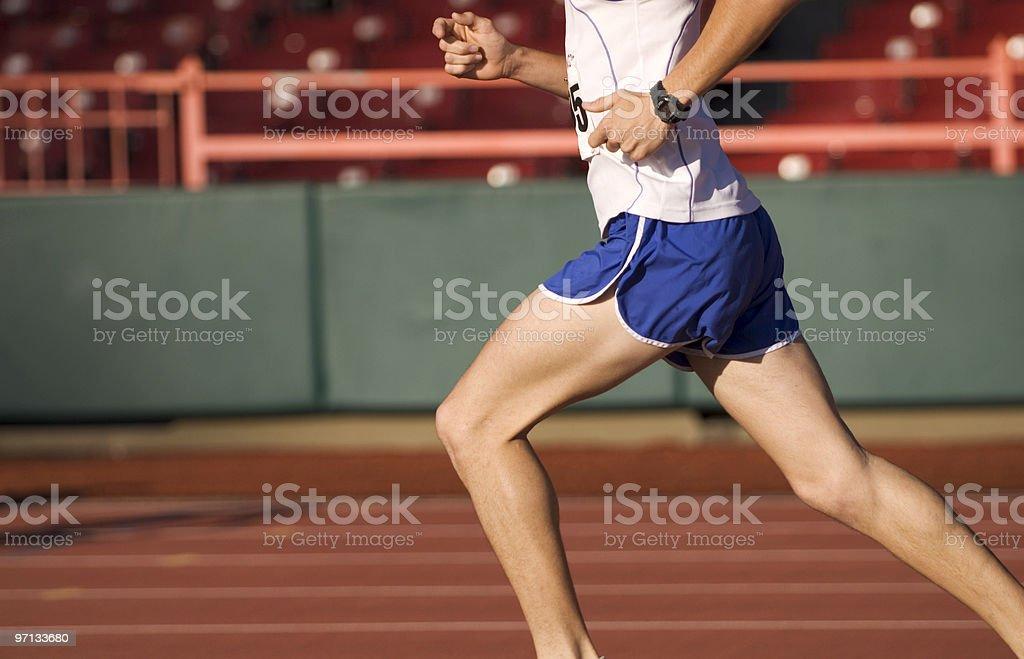 morning track run royalty-free stock photo