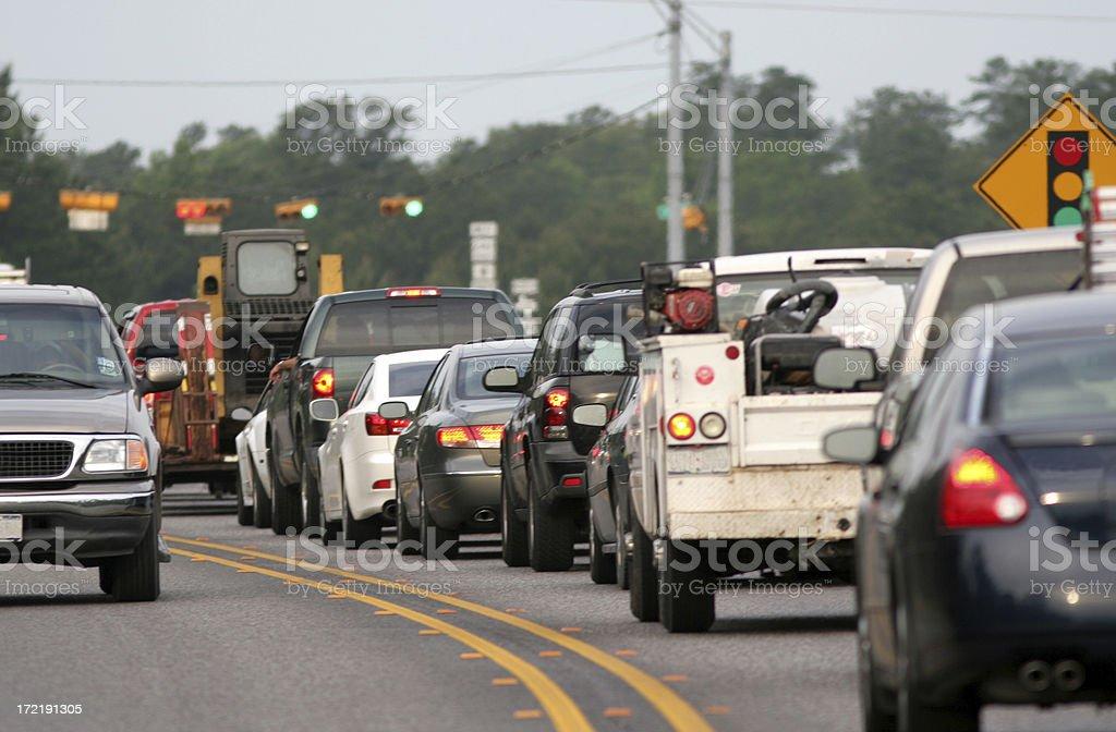 Morning Traffic royalty-free stock photo