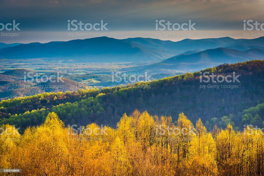 Morning view from Skyline Drive in Shenandoah National Park, Vir stock photo