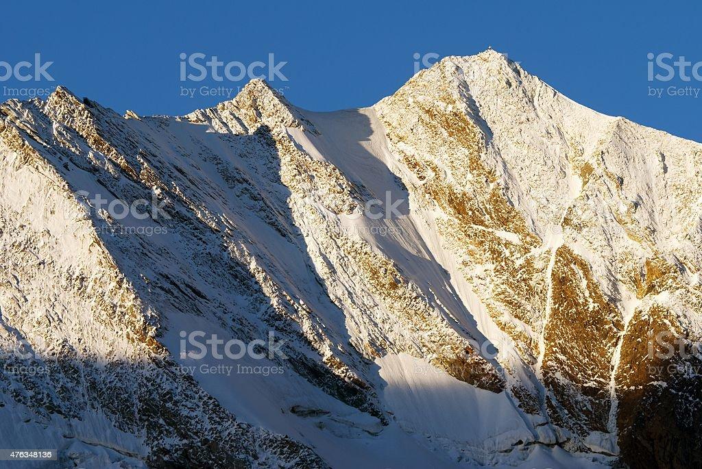 Morning view from Zillertaler Alpen on Hochfeiler stock photo