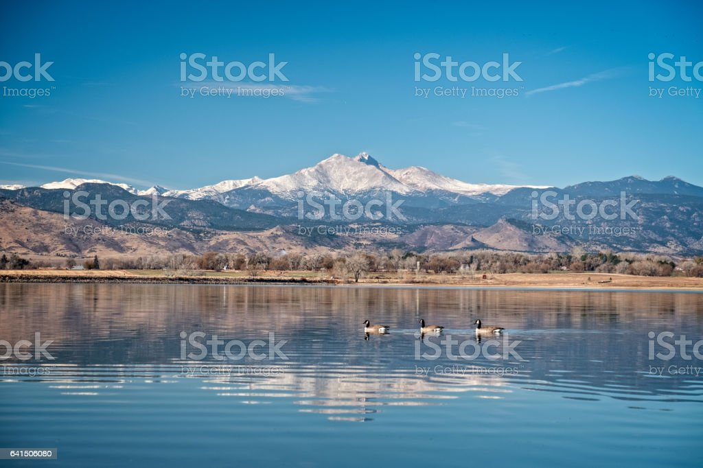 Morning view of a Fourteener in Colorado stock photo