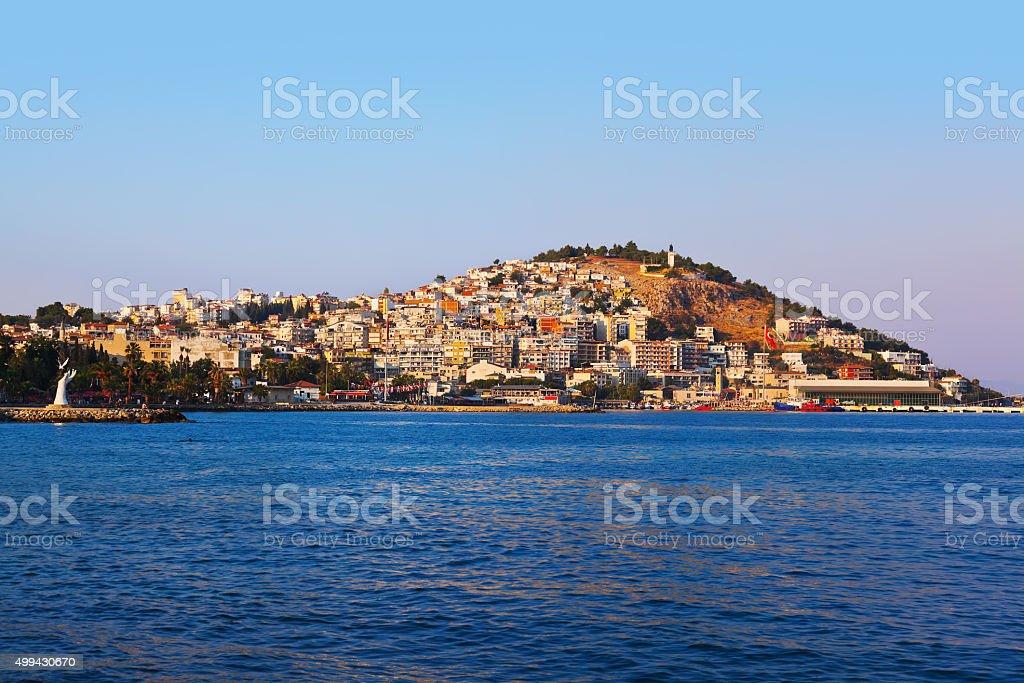 Morning view of Kusadasi Turkey stock photo
