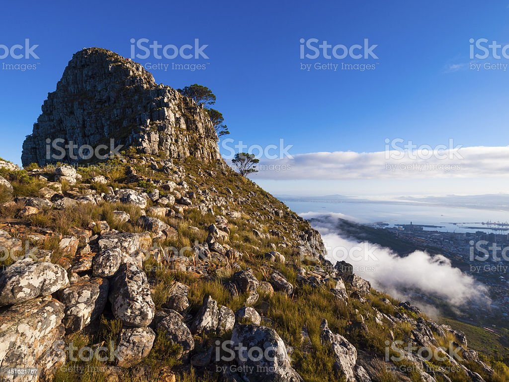 Morning view of Lions Head, Cape Town, South Africa stock photo