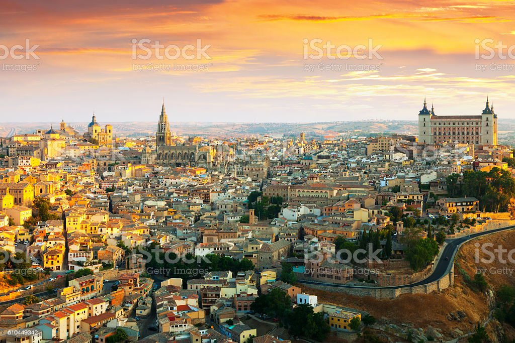Morning view of Toledo stock photo
