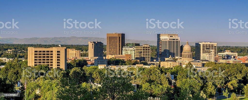 Morning view skyline of Boise Idaho stock photo