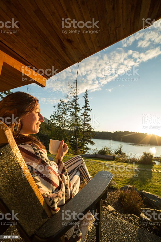 Morning wake up in nature stock photo