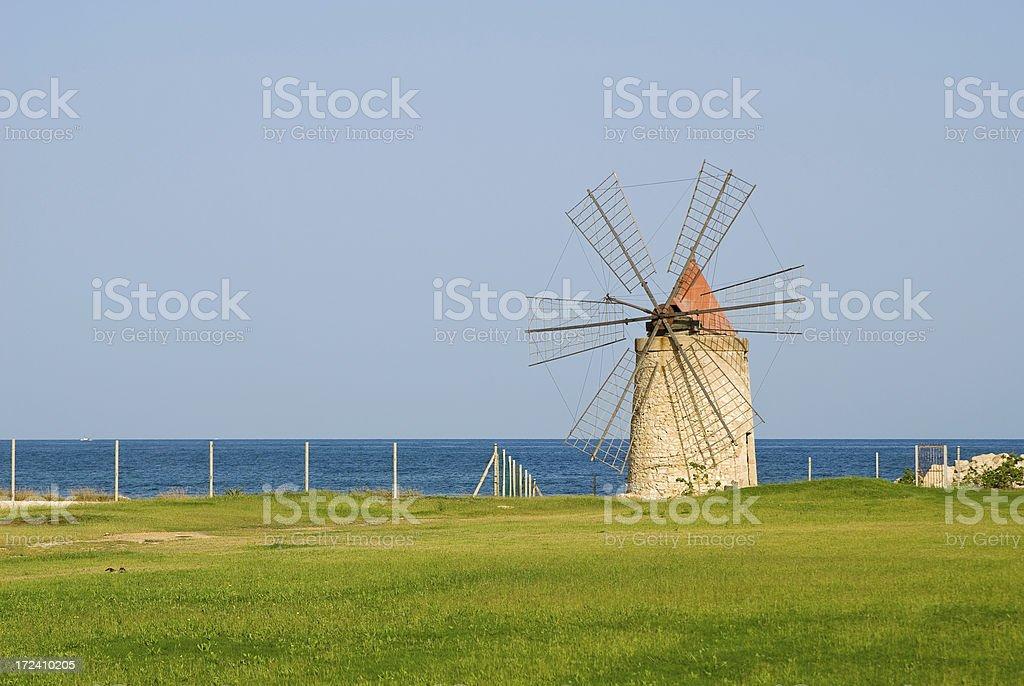 Morning Windmill royalty-free stock photo