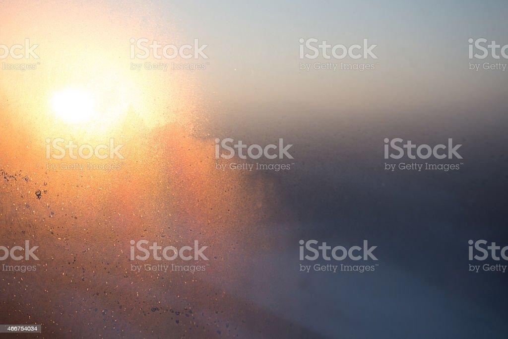Morning window stock photo