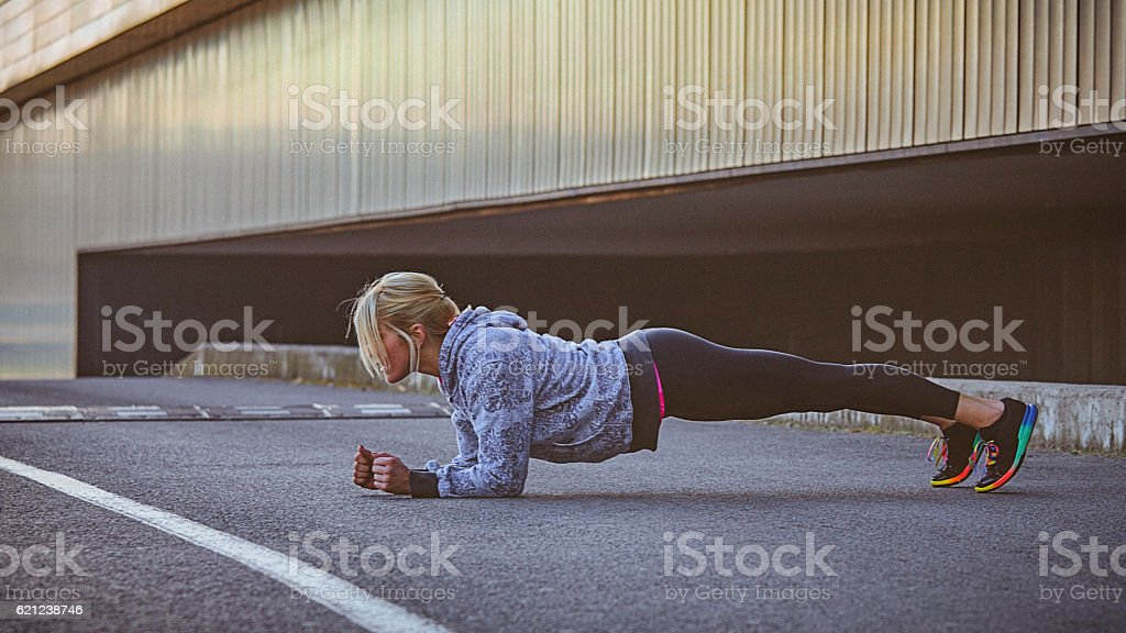 Morning workout stock photo