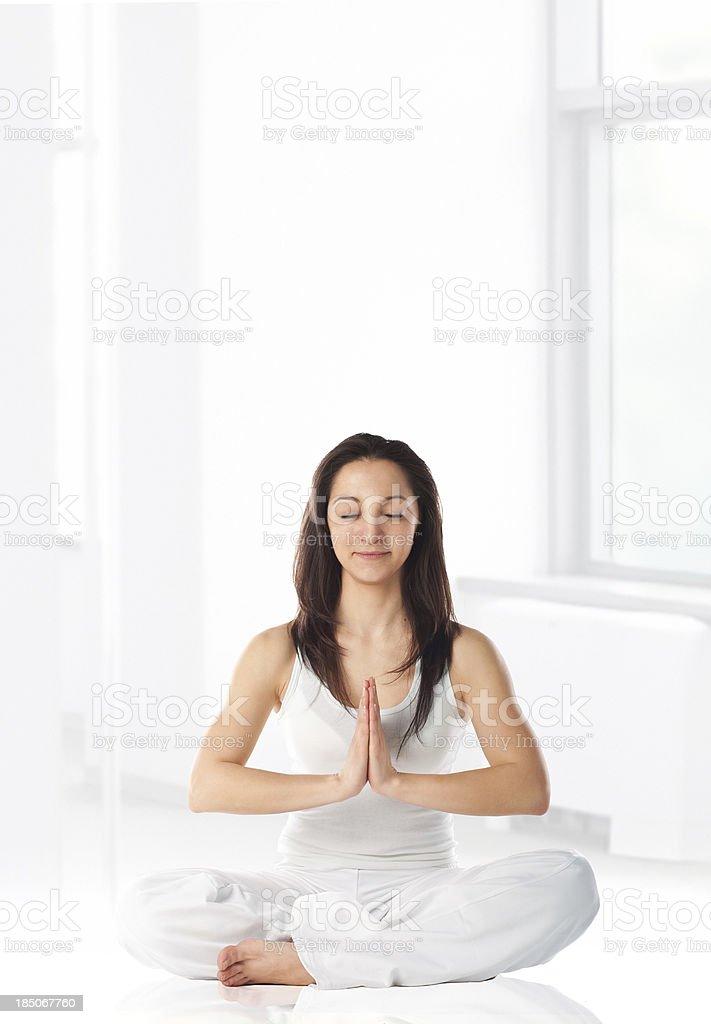Morning Yoga royalty-free stock photo
