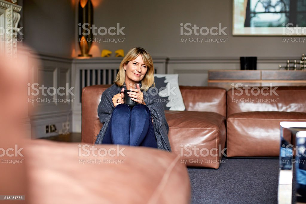 Mornings need coffee stock photo