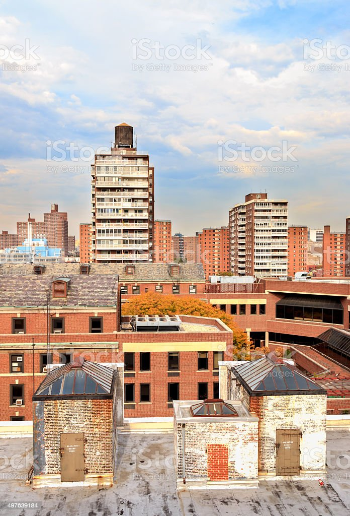 Morningside Heights Rooftops - New York City stock photo