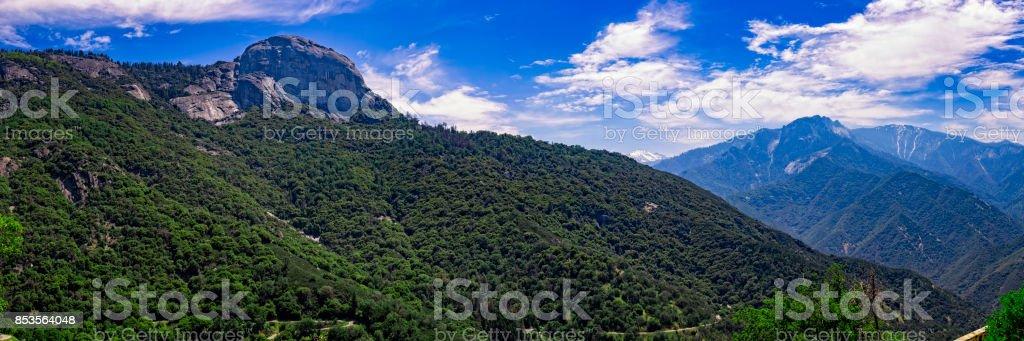 Moro Rock in Sequoia National Park, California, USA stock photo