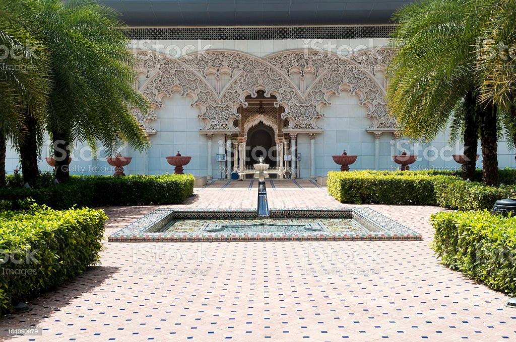 Moroccan Architecture Inner Garden royalty-free stock photo