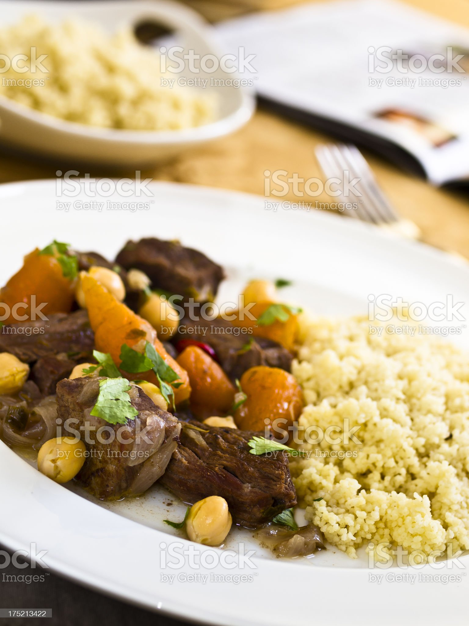 Moroccan beef stew royalty-free stock photo
