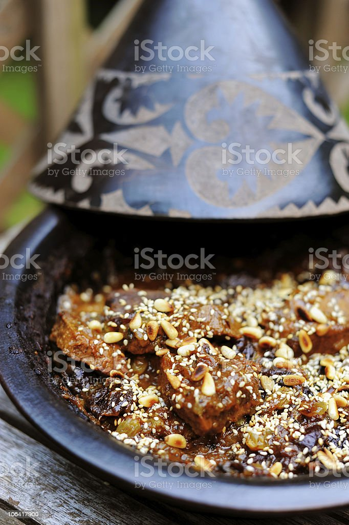 Moroccan Beef Tagine royalty-free stock photo
