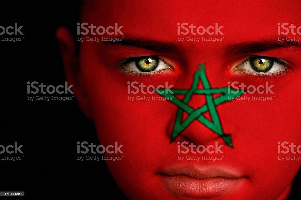 Moroccan boy stock photo