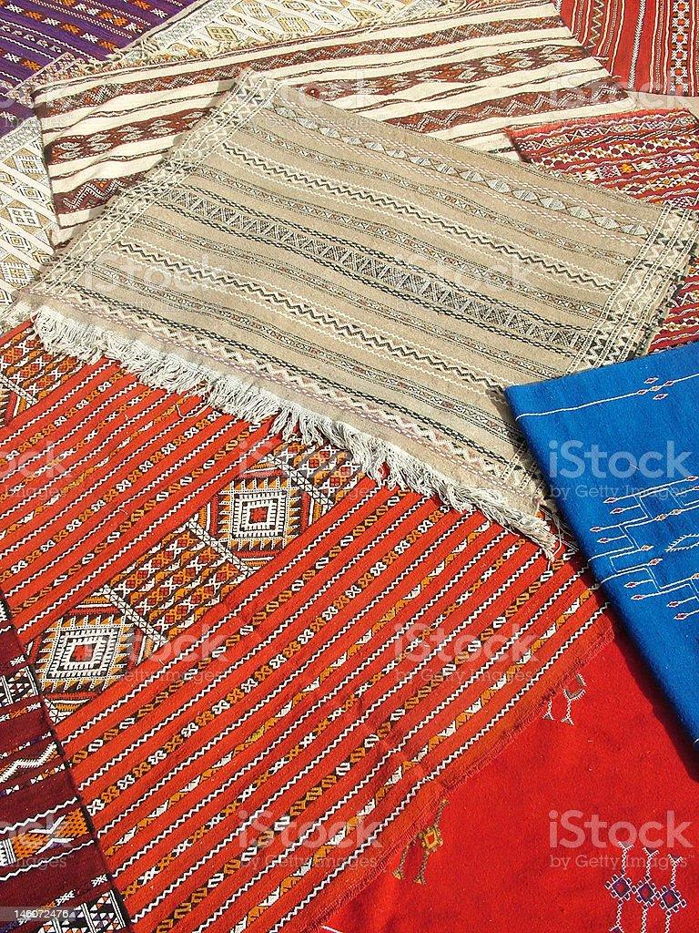 Moroccan carpets stock photo