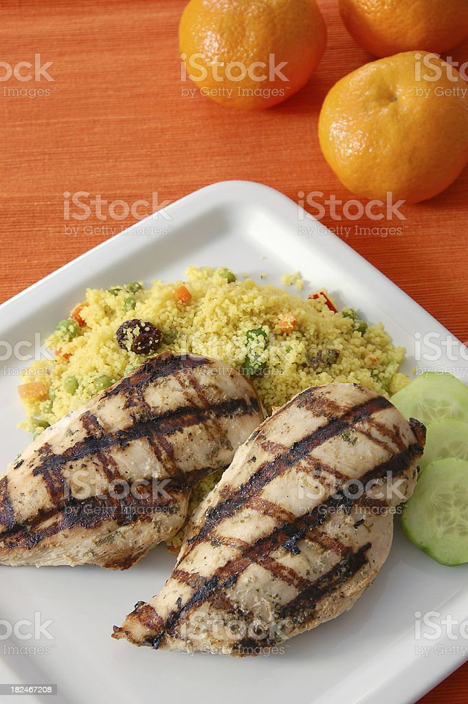 Moroccan Chicken and Couscous royalty-free stock photo