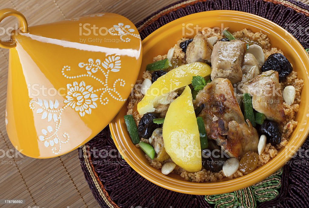Moroccan chicken stock photo