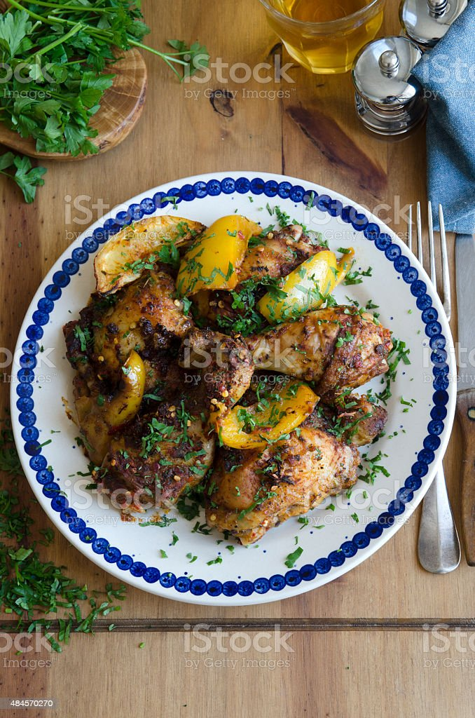 Moroccan chicken stock photo