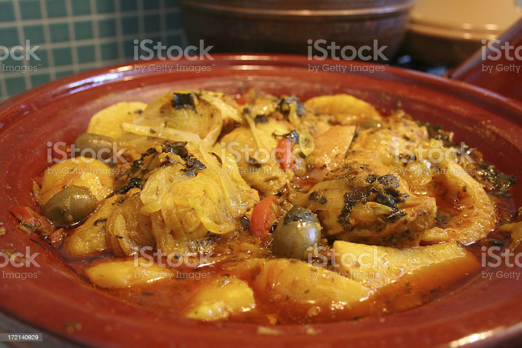 Moroccan Chicken Tagine stock photo