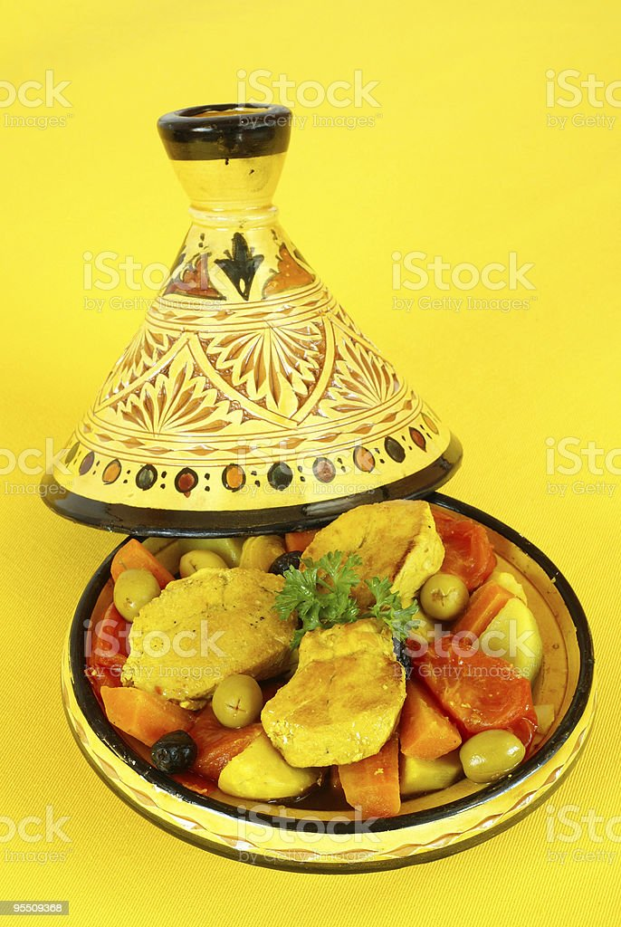 Moroccan chicken tagine royalty-free stock photo