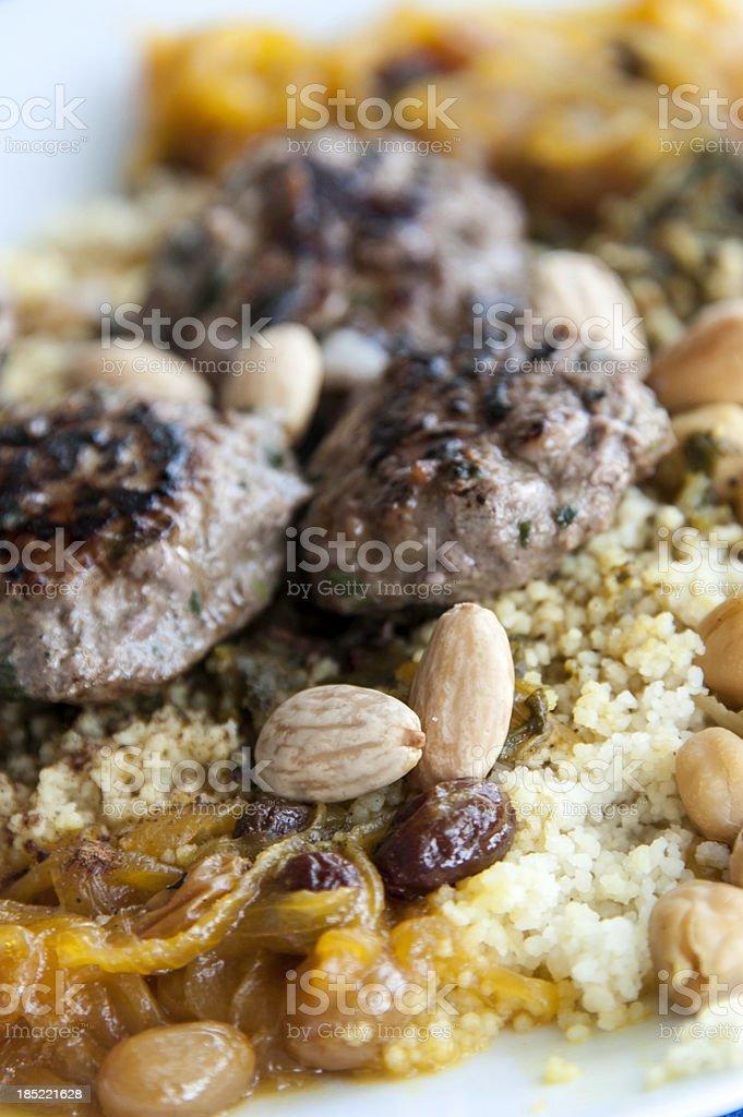 Moroccan couscous stock photo