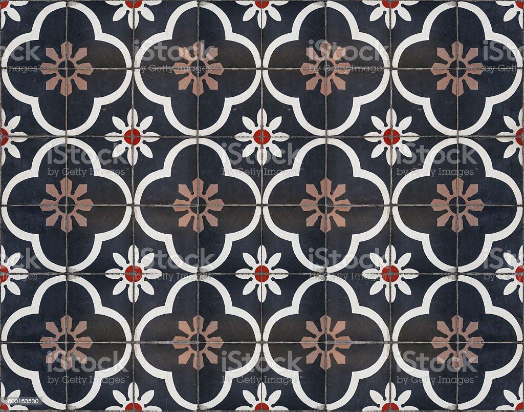 Moroccan decorative tile textured stock photo
