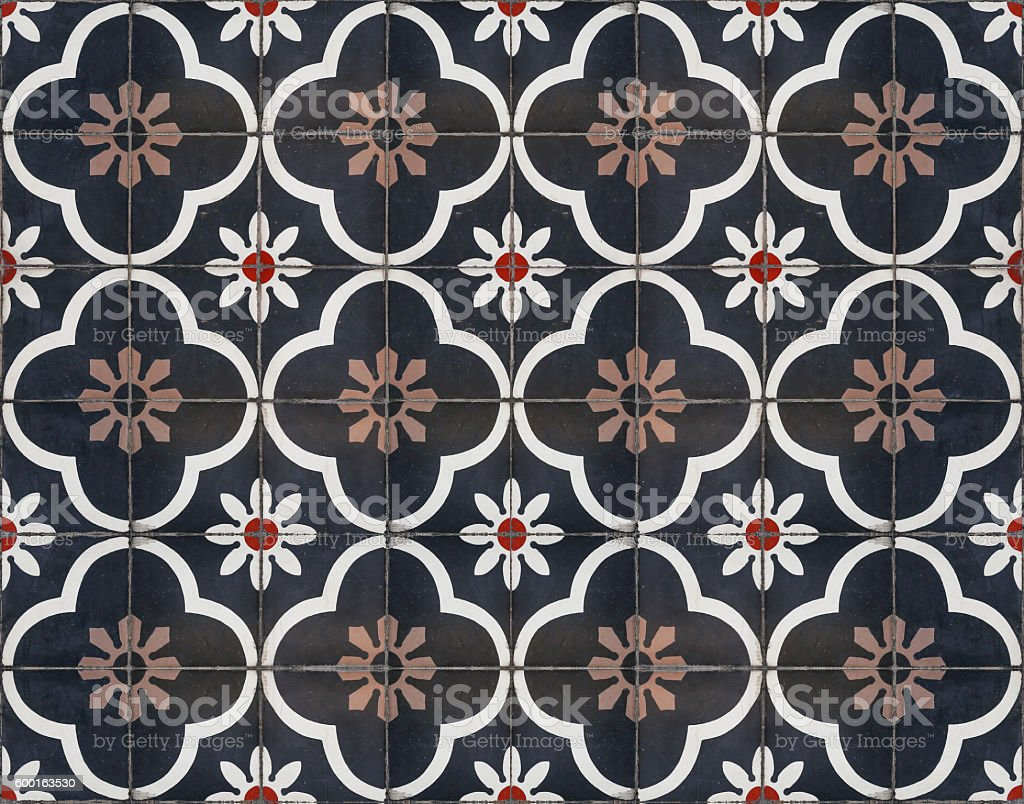Moroccan decorative tile textured stock photo