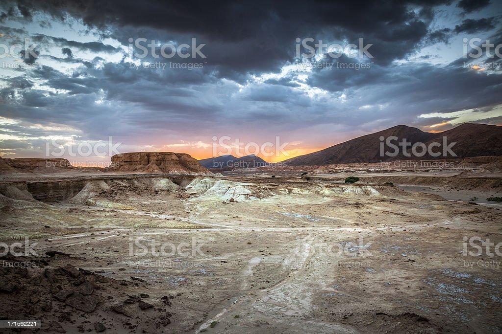 Moroccan Desert Sunset royalty-free stock photo
