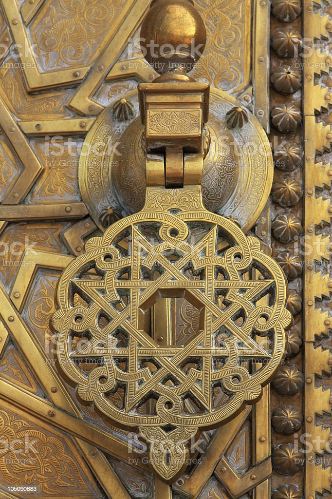 Moroccan door royalty-free stock photo