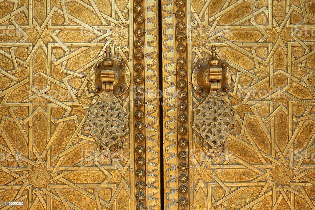 Moroccan doorway detail royalty-free stock photo
