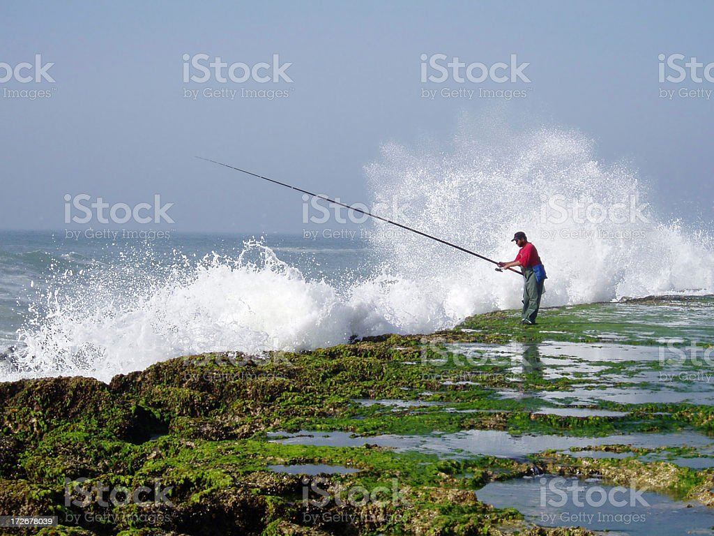 Moroccan Fisherman royalty-free stock photo
