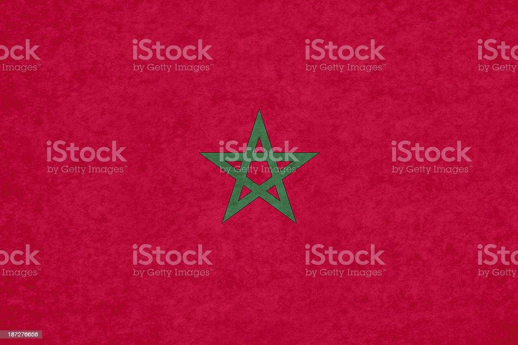 Moroccan flag stock photo