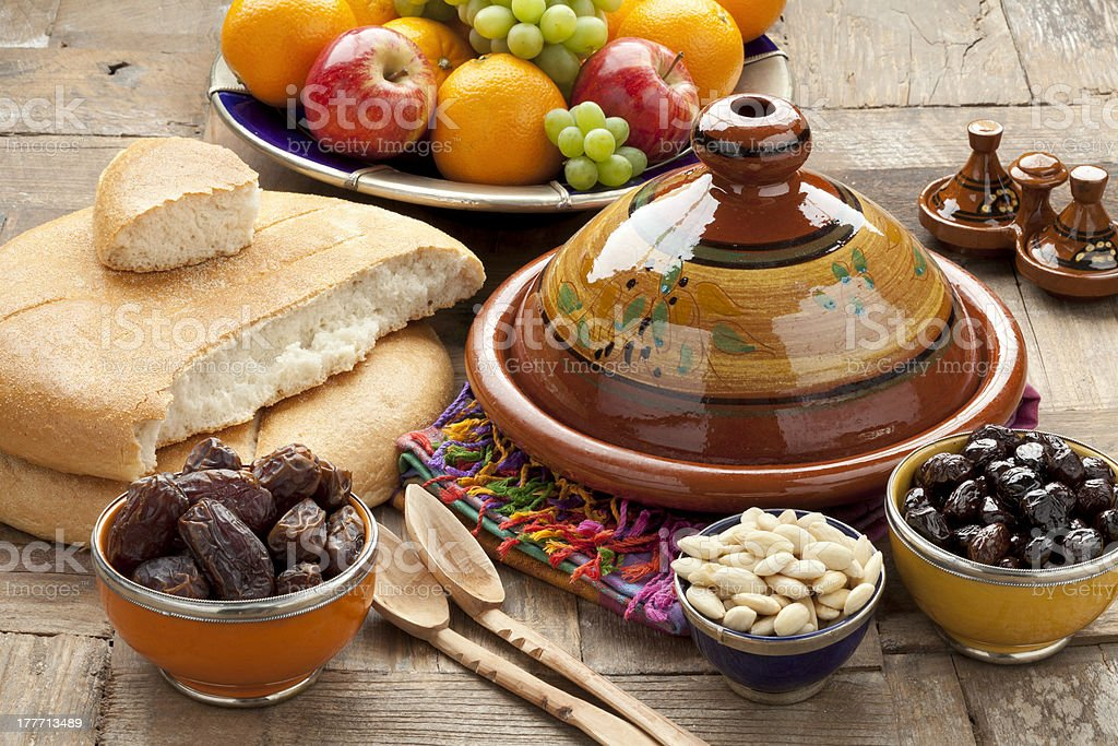 Moroccan food stock photo