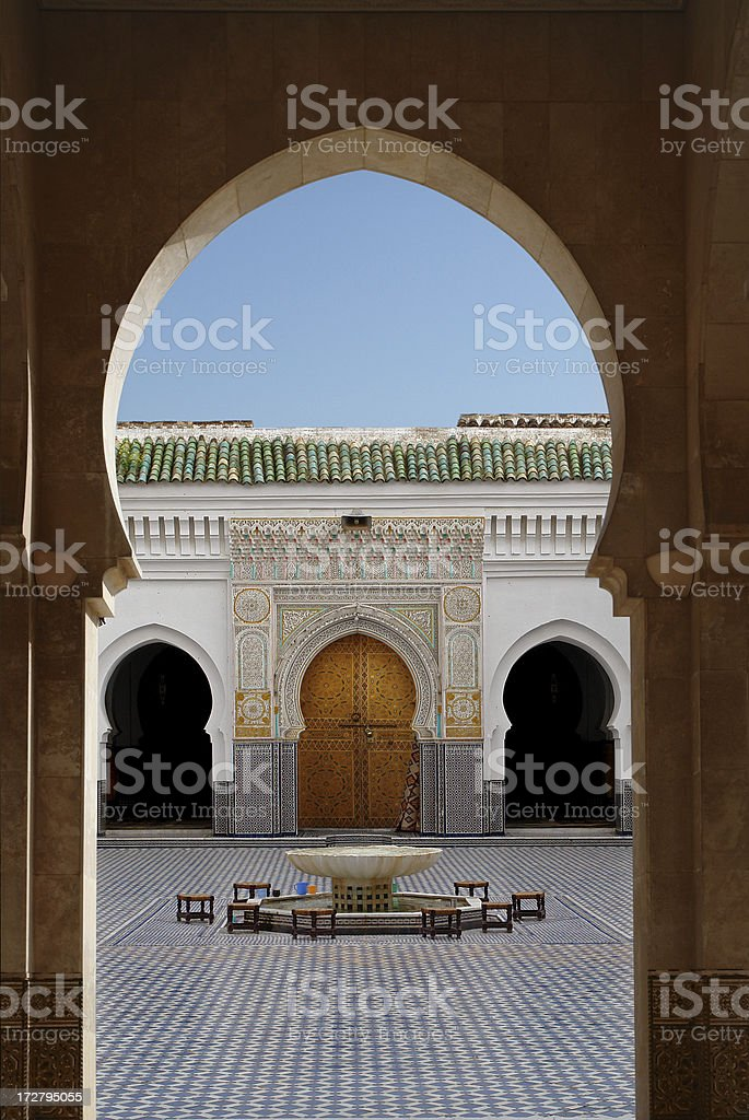 Moroccan Gate royalty-free stock photo